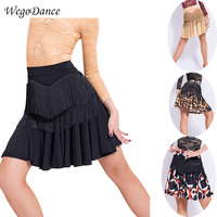 new Latin dance half fringe skirt latin competition dress for women freeshipping