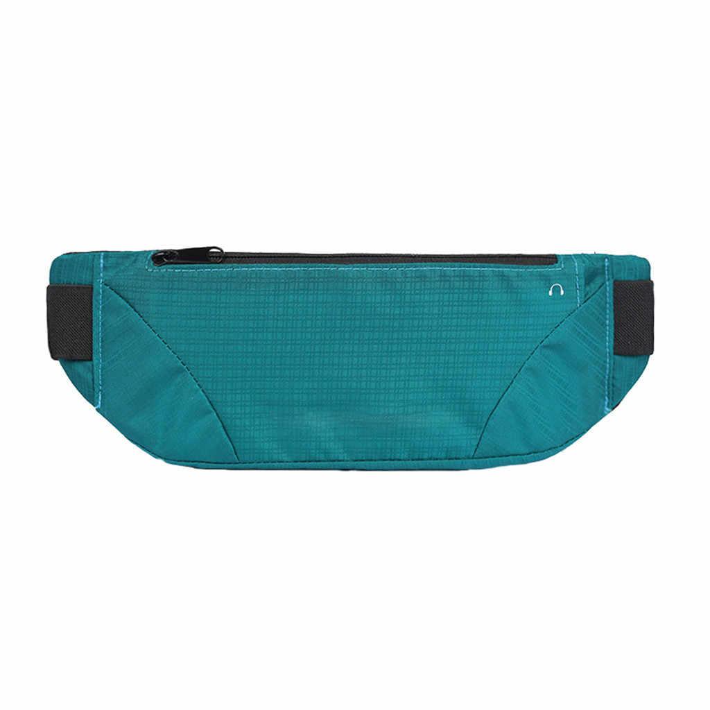 حقيبة خصر ملونة مضادة للماء حقيبة خصر للركض مزودة بحزام للحمل بسحاب حقيبة فاني حقيبة رياضية للركض عبر الجسم للنساء