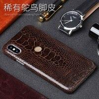 Ostrich Foot Skin Phone Case For Xiaomi Mi 5 6 8SE A1 A2 Max 2 Mix2S Note 5 Case For Redmi Note 4 4X 5 5A Plus Back Cover