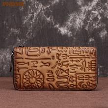 Pndme Ретро Бумажник ручной работы из натуральной кожи для мужчин
