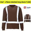 Men's summer safety clothing Hi vis shirt reflective safety shirt work shirt reflective flame retardant brown shirt