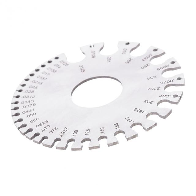 Newstyle round diameter gage wire gauge welding inspection ruler newstyle round diameter gage wire gauge welding inspection ruler thickness measuring tools stainless steel thickness tester keyboard keysfo Choice Image