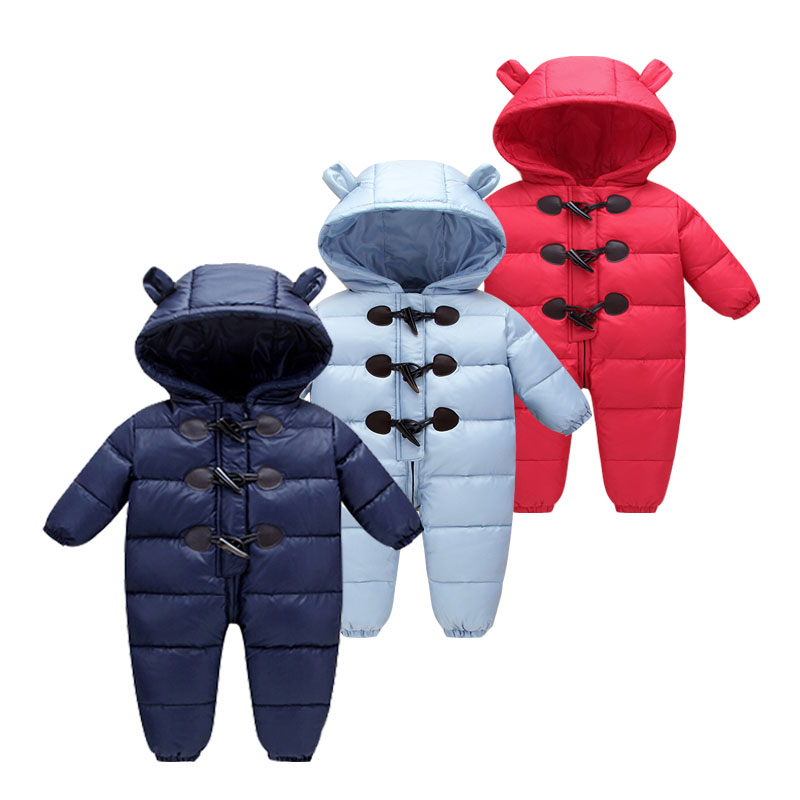 2017 baby winter clothes down thick warm Hooded baby jumpsuits newborn baby boys girls romper children snowsuit down clothing 2015 new arrive baby winter baby girls boys clothes thick warm newborn baby snowsuit down rompers kids clothing 1 4 years