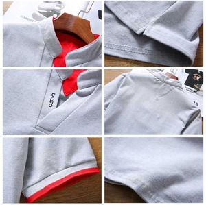 Image 5 - Legible Mens Polo Shirt High Quality Solid Men Cotton Short Sleeve shirt Brands Summer Camisas  polo Shirts Men 4XL 5XL