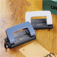 DELI Hole Punch Double Hole Craft Paper Punch Scrapbook Punches Circle Cutter