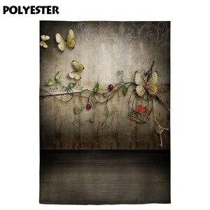 Image 3 - Allenjoy צילום רקע רטרו אביב פרפר פרח אהבת רקע תא צילום אבזר צילומים דקור מודפס שיחת וידאו