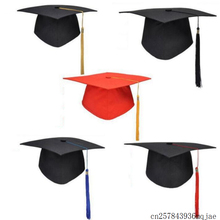 50 шт. шляпы для школы Выпускные вечерние шапка с кисточками для девичника для магистра доктора университета