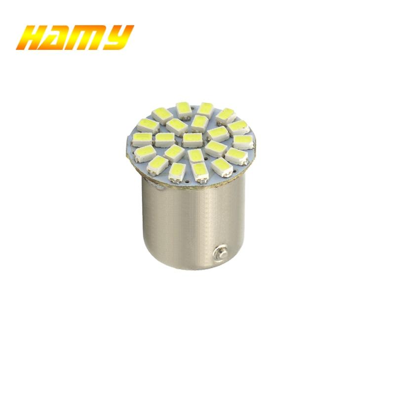 1x Car P21W 1156 BA15S 1157 Bay15d LED Bulb Signal Light Super Bright Auto Turn Brake Reveres Parking Lamp Red Yellow 12V 22SMD