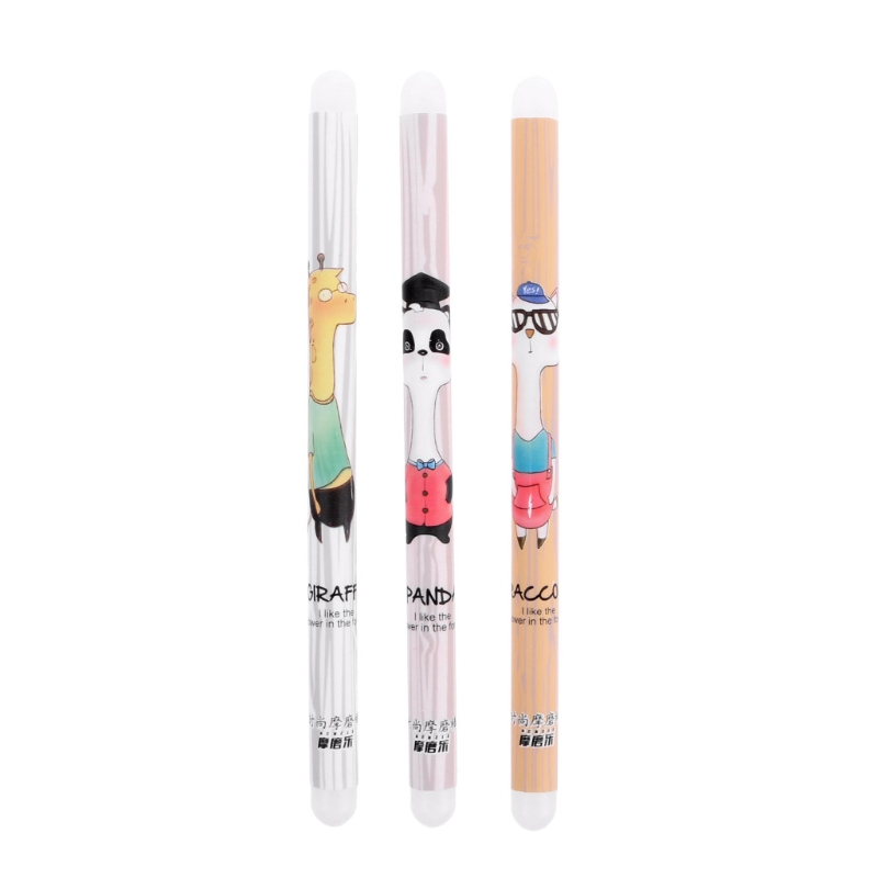 Creative Cartoon Animal Silicon Double Head Friction Eraser For Erasable Gel Pen