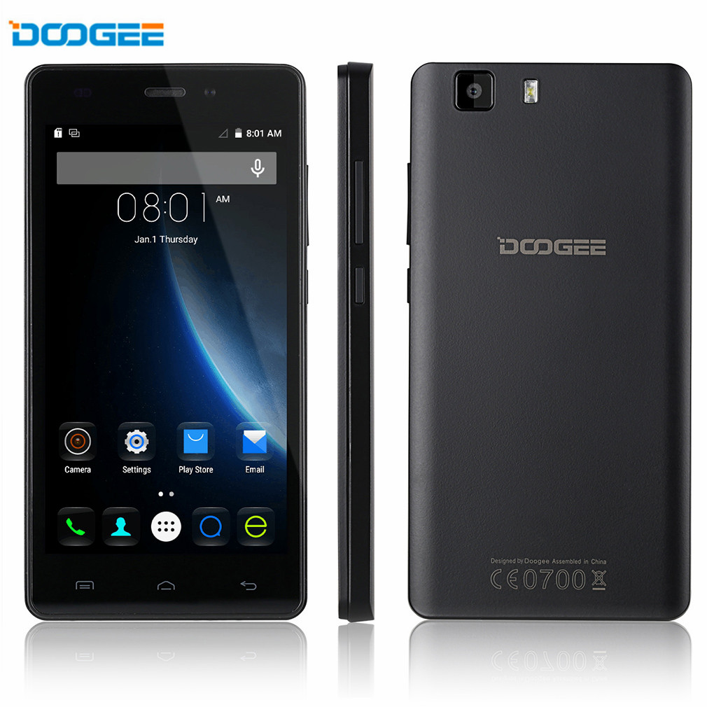 DOOGEE X5 Pro 5.0 inch 1280x720 HD 4G FDD-LTE Cellphone Android 5.1 MTK6735 Quad Core 2G+16G Dual SIM Dual Camera Smartphone