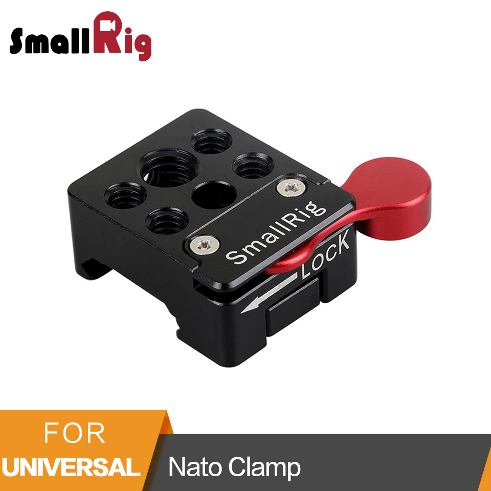 SmallRig Nato Clamp Quick Release Clamp With 1/4 3/8 M2.5 Thread For Cold Shoe Monitor Support Ball Head - 1885