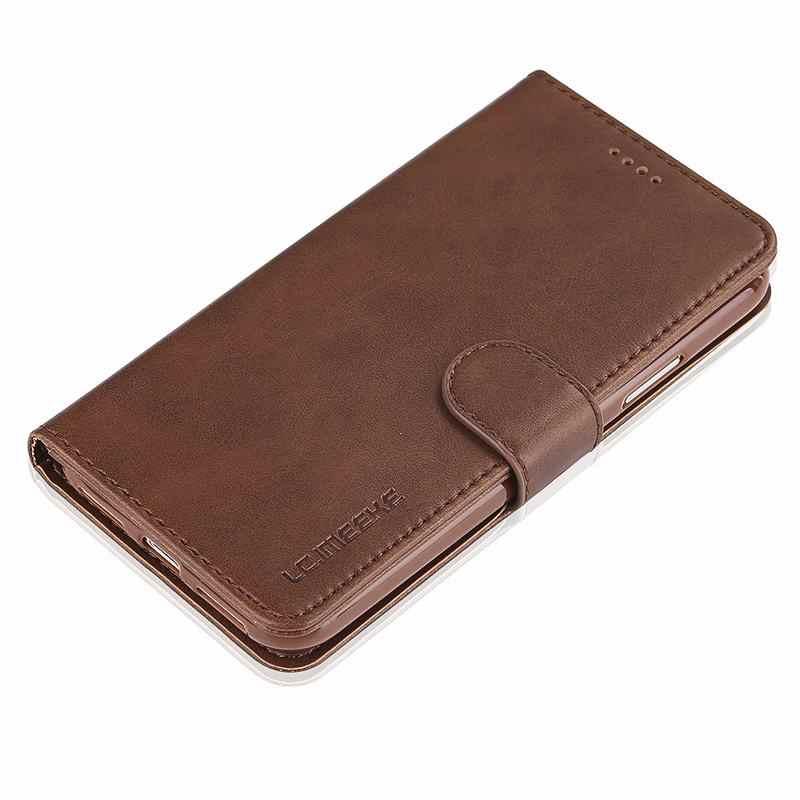 خزائن هاتف آيفون 6S 6 Plus غطاء إطار هاتف محمول فاخر محفظة المغناطيسي الوجه حقائب جلدية خمر لابل آيفون 6splus 6plus Coque