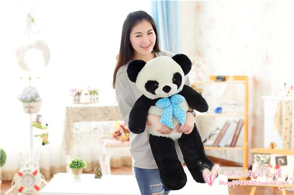 large 100cm panda plush toy ,bowtie panda throw pillow birthday gift h886 lovely giant panda about 70cm plush toy t shirt dress panda doll soft throw pillow christmas birthday gift x023