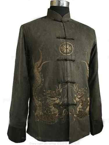 Free Shipping wholesale/retail Traditional Oriental men's dragon clothing jacket/coat SZ:M-3XL