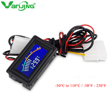 Digital LCD Pointer Thermometer Car Water Temperature Detection C/F Switch Temperature Sensor for Computer Chassis