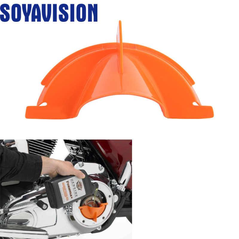 新しいオレンジプラスチック一次オイル記入漏斗ハーレーツーリングトライクモデル 2006-2017 dyna 2007 から 2018 ソオートバイ部品