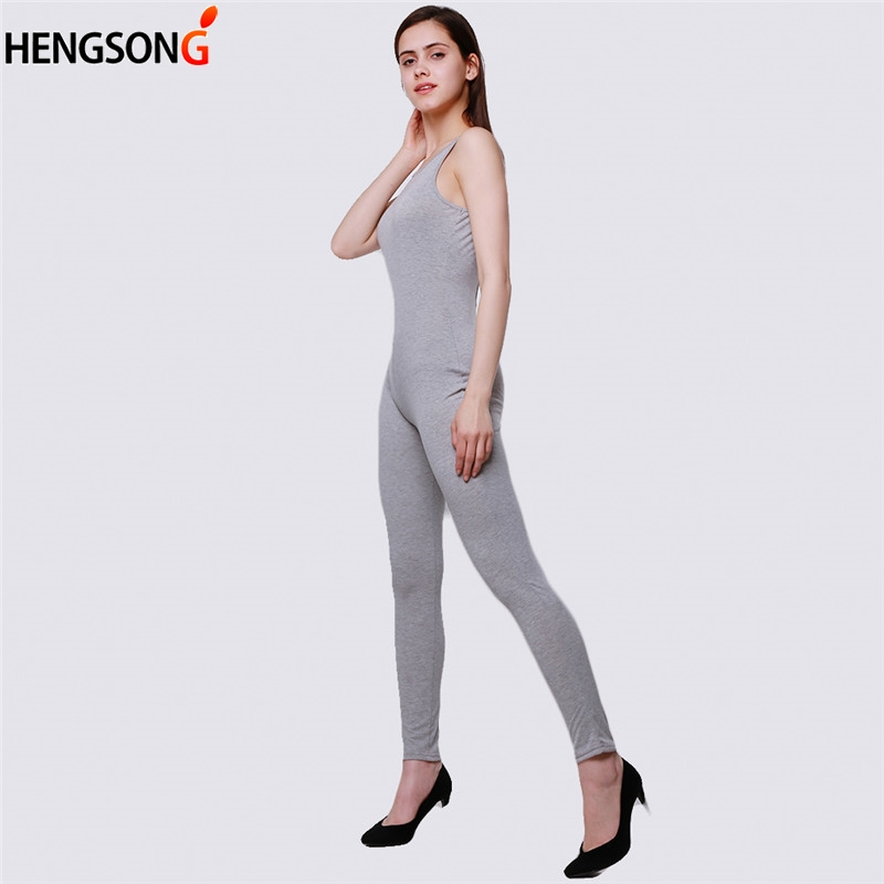 d50350535b5 Grey Jumpsuits Romper Hot Sale Women Casual Solid Women Sleeveless Hollow  Out Backless Regular Ladies Jumpsuit-in Jumpsuits from Women s Clothing on  ...