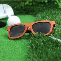 BOBO de AVES AG008a Sándalo Rojo Hecho A Mano de Super Vintage gafas de Sol Mujeres Diseñador de la Marca Gris Len Polarizada Hombres Gafas De Madera OEM