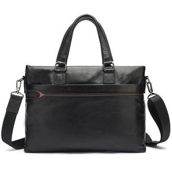 nueva llegada a99d8 f418a Maletín portátil para hombre europeo y americano, bolso de cuero para  hombre >> HEBA Trend Bag Store
