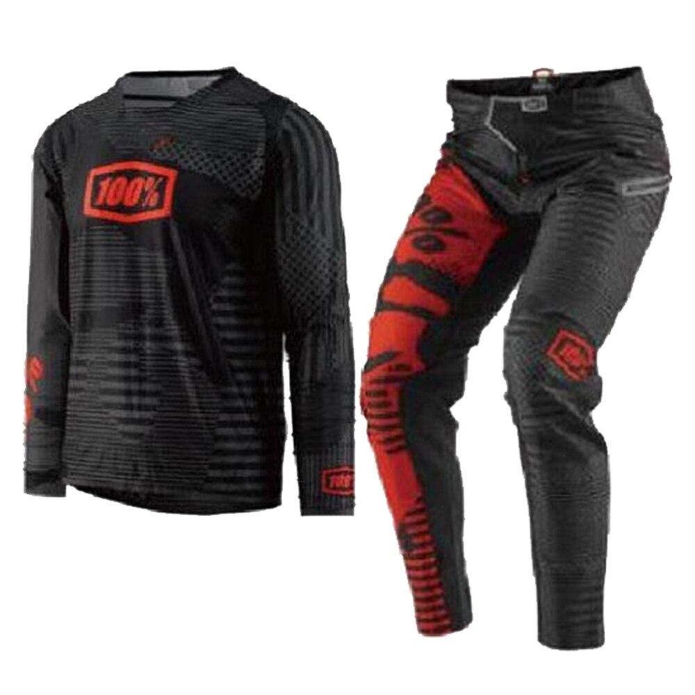 100% COURSE Usure Gear Set Jersey Pantalon Combo pour KTM Motocross Dirt Bike Off-Road MX Racing Équitation