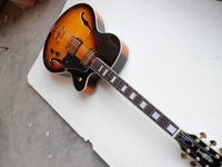 Free shipping High quality Luxury jazz Semi Hollow maple top guitar custom L5 Sunburst Electric Guitar 1 28 real photos