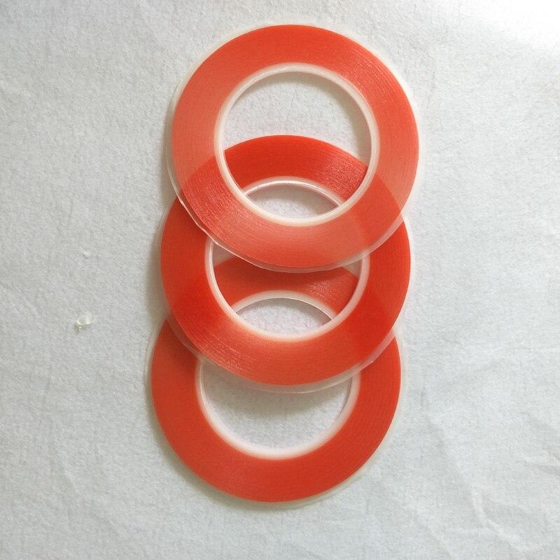 1mm ~ 25mm de ancho elegir 0,2mm de espesor de película roja cinta adhesiva transparente de doble cara alta pegajosa para iphone ipad HTC pantalla LCD LED Máscara de Gas de aerosol de pintura de doble uso igual para 3M 6800 máscara de cara completa pieza respirador industrial