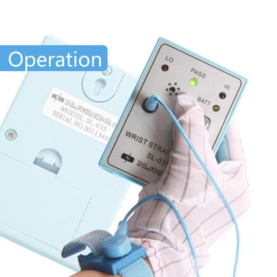 Estático da Correia de Pulso da Eletricidade Antiestática do Coxim da Conexão do Fio da Correia de Pulso Esd para a Conexão Verificador Sl-035 Mod. 70588