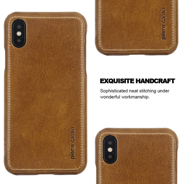 designer fashion 2abf1 8f20b US $30.0 |For iPhone XS Case Original Pierre Cardin Genuine Leather Case  For iPhone X XS Cover Luxury Hard Ultra Thin Case For iPhone XS-in ...
