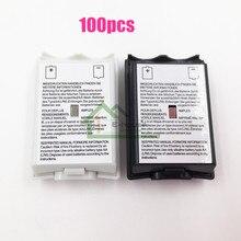 [100 CÁI/LỐC] Black & White Tùy Chọn Plastic Pin Ắc Gói Pin Bìa Trường Hợp Thay Thế cho Xbox 360 Sửa Chữa Phần