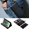 Musubo leather pouch case para iphone 7 plus capa de couro da aleta de luxo casos para iphone 6 plus saco carteira destacável case 6 s 5 5S