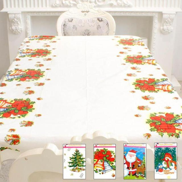 Christmas Disposable Tablecloth Rectangle Table Cloth Xmas Tableware Dining Kitchen Tools New Year Party Table Covers  sc 1 st  AliExpress.com & Christmas Disposable Tablecloth Rectangle Table Cloth Xmas Tableware ...