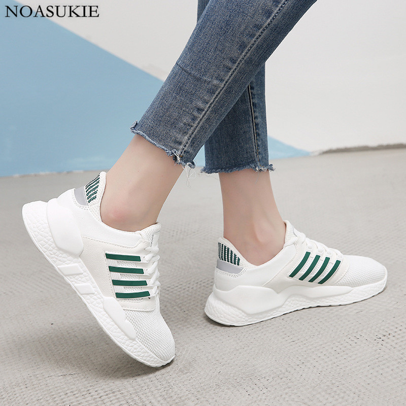 Fashion Striped Pattern Shoes Women Platform Sneaker Mesh Patent Leather Stitching Breathable Jogging Casual Chunky Sneakers