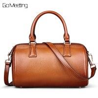 2016 NEW Genuine Leather Women S Handbags Cowhide Women Shoulder Bags Pillow Pack Fashion MS Cross