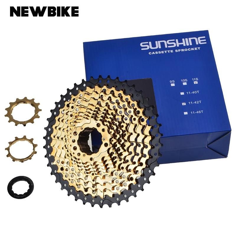SUNNENSCHEIN 11 Geschwindigkeit Freilauf MTB Mountainbike Teile Kassette Freilauf Goldene 11-42 t fur Teile XT M8000 SLX m7000 M der goldene topf
