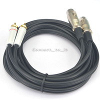 Dual XLR Female To Dual RCA Male 9 8 Feet Patch Cable