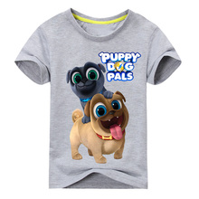 Summer Cartoon Puppy Dog Pals Print Tee Tops For Boy Girls Clothing Children White 3D Funny T-shirt Kids T Shirt Clothes 2019 dog print tee