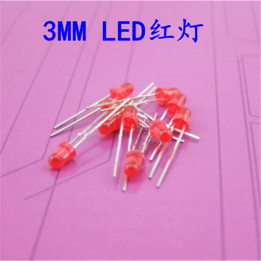 10pcs/lot K862 Diameter 3mm LED Red Light 1.8-2.5V Light Emitting Diode DIY Toys Making Festival and Party Using Free Shipping