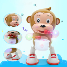 Flashing Drum Dancing Monkey Happy Drummer Toys For Children Electric Beat Singing Childrens Phone Toy