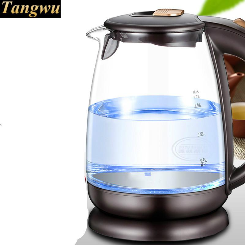 electric kettle USES a glass to automatically power off Fashion product 1.7L power fashion