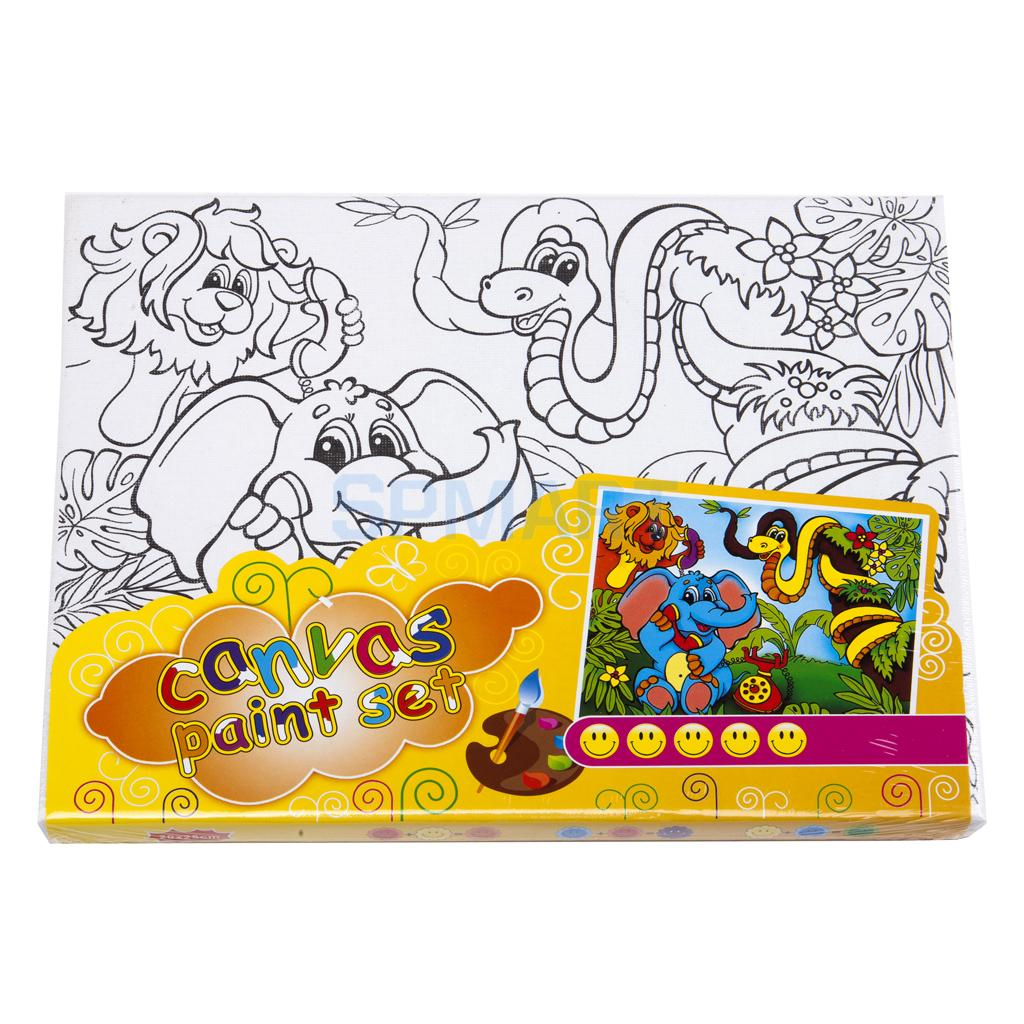 20*25cm Kids Children Canvas Painting Coloring Drawing Board Toys Gifts Random One Pattern