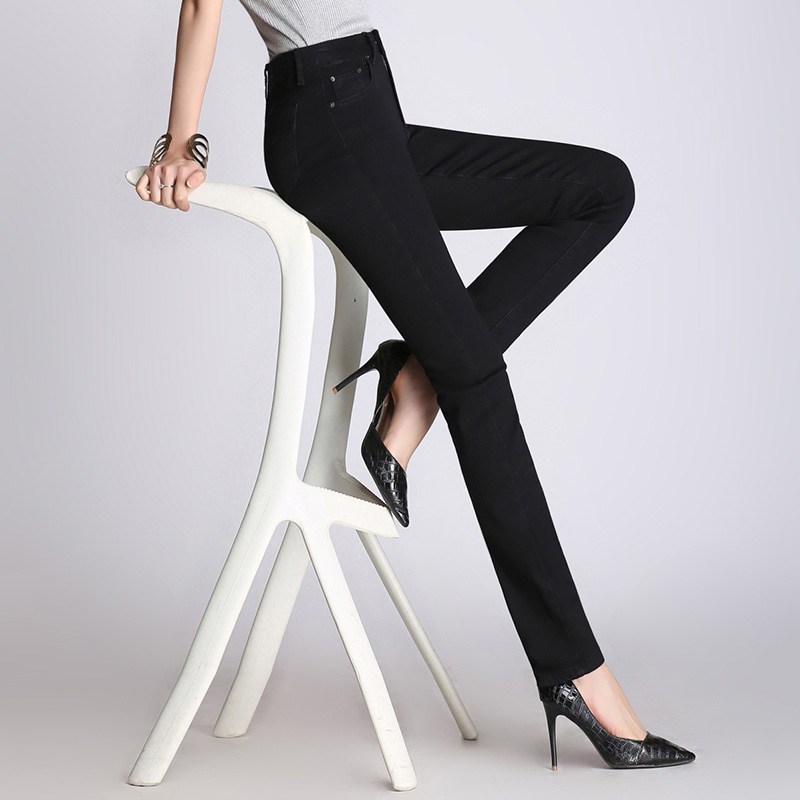 New Brand Pants  High Quality Black Jeans Women High Waist Trousers Skinny Stretch Jeans Female Slim Fit Pants Casual
