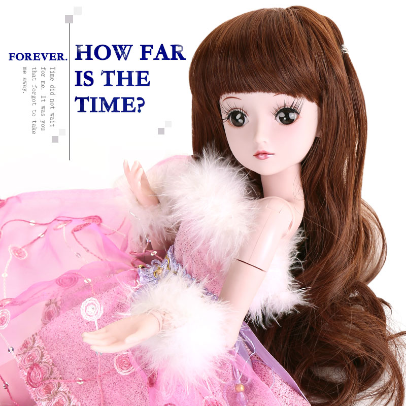BARBIE 1/3 BJD Doll Princess SD Dolls 19 Joint Body Party Dress Eyes Wig Makeup Dressup With Outfit Dress Toys for Children dolls accessories dreamy party wedding gown dress 1 3 bjd sd dz aod luts dollfie doll clothes sd outfit party clothes