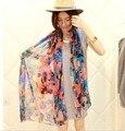 30 стилей летом пляж уход мода шелк девушка шарф женщин платок долго обертывание scaves женщины нью-шифон шаль 1 шт./лот SW32