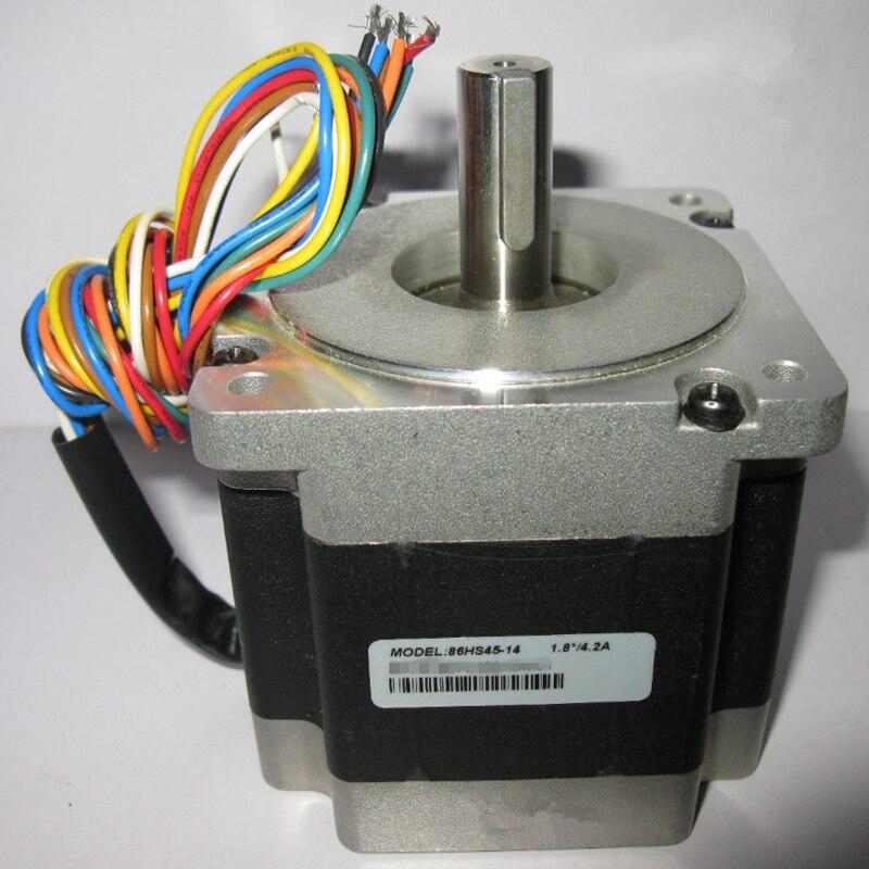 все цены на CNC NEMA34 Stepper Motor 4.5Nm 643oz-in 2phase 4.2A D=12.7mm 86HS45-14 Hybrid Stepper Motor for CNC Engraving Machine онлайн