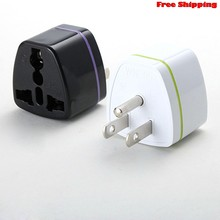 EU AU UK Duitsland Naar USA US Canad 3pin travel adapter plug converter adapter Dropship(China)
