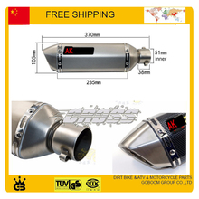 Universal 51mm akrapovic exhaust motorcycle exhaust pipe motorbike muffler tubo escape moto accessories