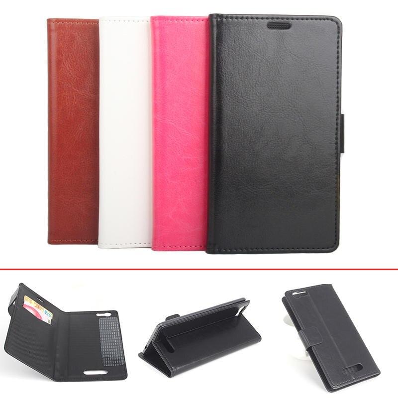 4 estilos estilo libro de la carpeta crazy horse pu cuero del teléfono case para