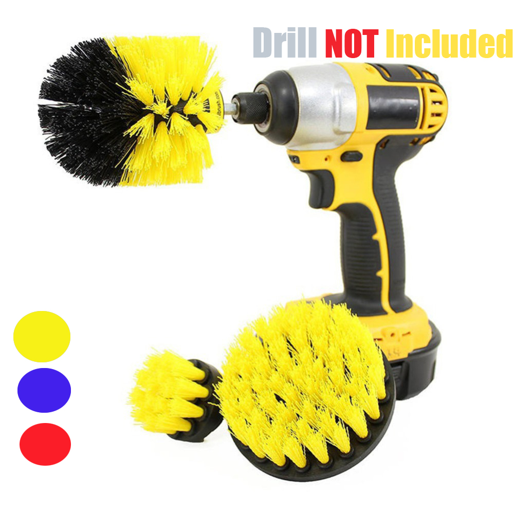 3 pcs/set Power Scrubber Brush Drill Brush Clean for Bathroom Surfaces Tub Shower Tile Grout Cordless Power Scrub Cleaning Kit-in Cleaning Brushes from Home & Garden
