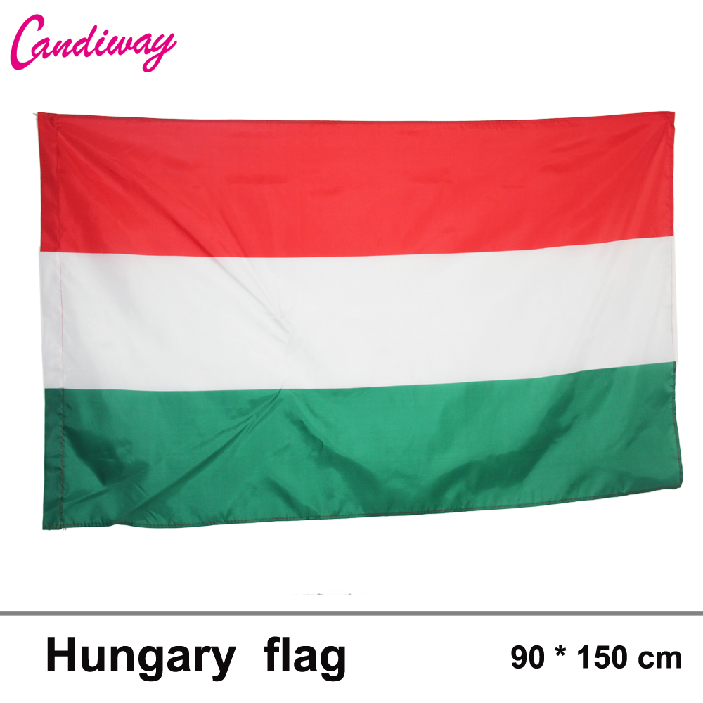 3x5FT HUNGARY FLAG HUNGARIAN FLAGS 90x150cm Hanging Hungary Flag banner Office/Activity/parade/Festival/Home Decoration