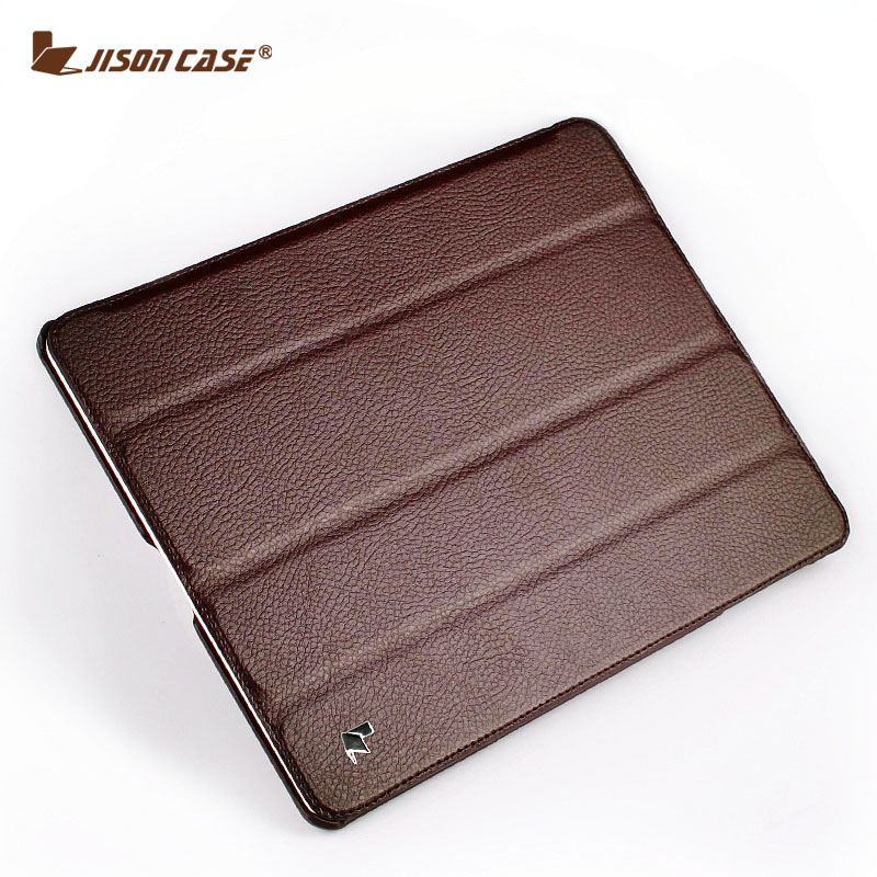 Jisoncase Smart Case For iPad 4 3 2 Flip Folio Cover Stand Tablet Designer Ultra Thin Leather Covers & Cases
